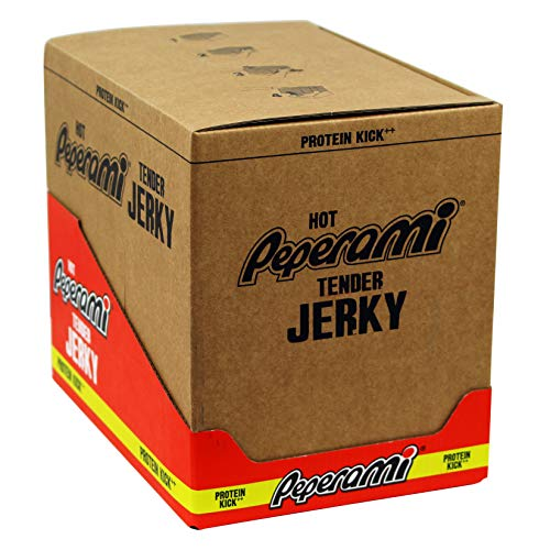 Peperami Hot Tender Jerky Box of 10 x 70g Packs