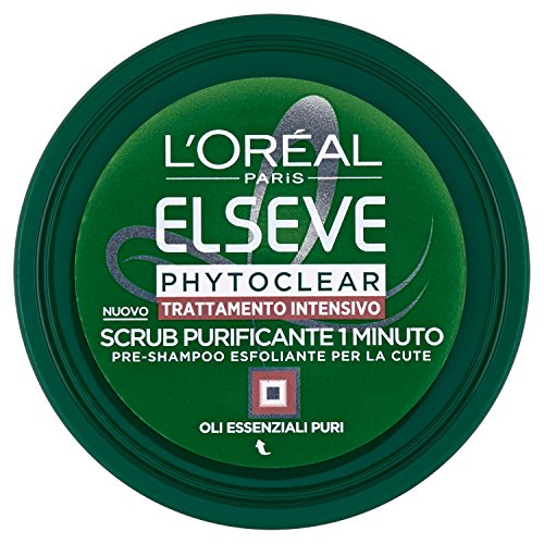 L Oréal Paris Elvive Phytoclear Pre-Shampoo Esfoliante per la Cute, Scrub Purificante - 150 ml