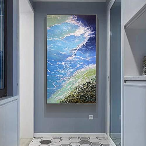 adgkitb canvas Immagini astratte di Arte della Parete della Stampa di Vista sul Mare per l'entrata della navata della Camera da Letto del Salone Decorazioni moderne58x120cm Senza Cornice