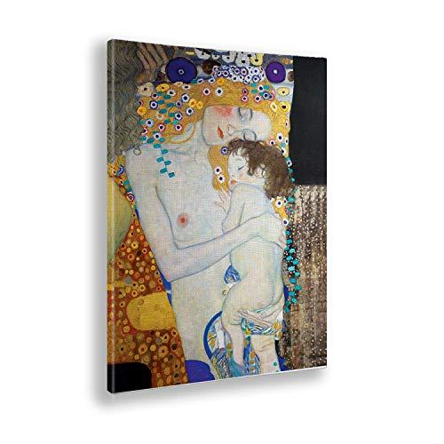Giallobus - Cuadro - Gustav Klimt - Maternidad - Estampado en Lienzo - Listo para Colgar - Varios tamaños - 50x70 cm