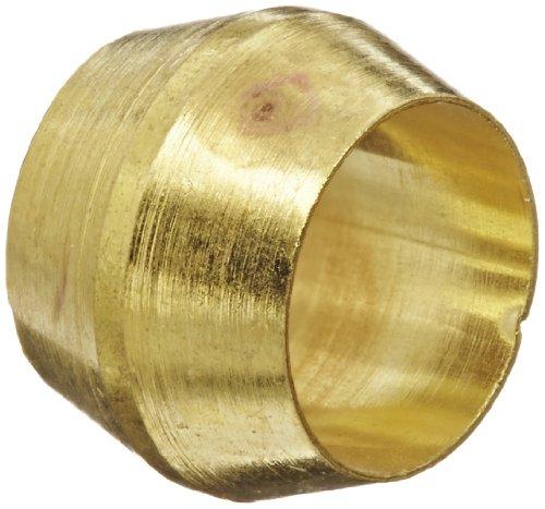 "Eaton Weatherhead 60X4 Compression Sleeve, CA360 Brass, 1/4"" Tube OD, 0.3400"" Sleeve OD"
