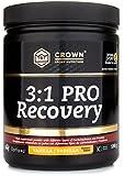Crown Sport Nutrition 3:1 PRO Recovery, Suplemento recuperador muscular para deportistas, Con estudio científico y certificación antidoping Informed Sport, Sabor de Vainilla - 590 g