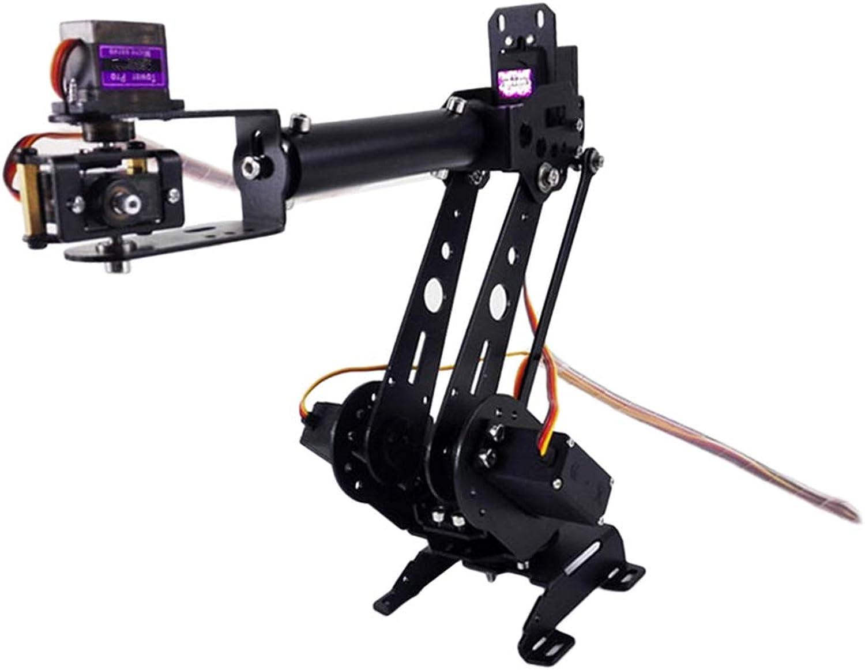 Baoblaze Full Metal RC Robot S6 6Dof Robot Mechanical Arm for Arduino Robotics Educative Science Toys