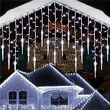Cortina De Luces Led,Adorno navideño LED Carámbano Luz de cortina de hadas, Cascada Casa Año nuevo Halloween Jardín Patio Decoración 8 modos, 14 M (4 juegos 3,5 m)