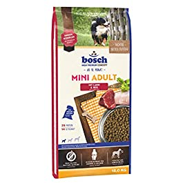 bosch Pet Food HPC Mini Adult with Lamb & Rice Dry dog food for adult dogs of small breeds, 15.50 kg