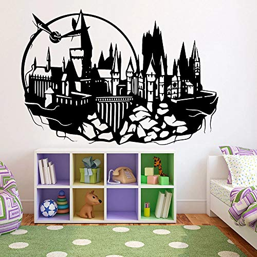 HGFDHG Pegatinas de pared de castillo de dibujos animados niños dormitorio arte decoración de vinilo pared decoración del hogar escuela aula sala adolescente