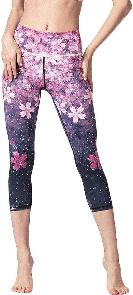 Women's High-Waist NEW Omaha Mall before selling ☆ Printed Yoga Capris Hip Stretch Underpants Ru