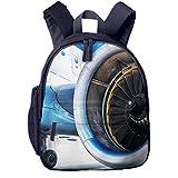 Mochila para Niños Motor de turbina Jumbo Jet Liner, Mochila Escuela Primaria De Edad Peso Ligero Pérdida Mochila De Viaje para Chico Chica