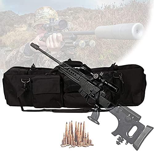 NYZXH Caja táctica de doble rifle, cajas de rifle suave con capacidad de dos rifles, cojín de pedestal, base de magia base fija, bolsa de almacenamiento de rifle para escalar, pescar, acampar, caza, n
