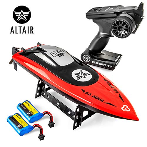 Altair Aqua [Ultra Fast Pro Caliber] RC Boat for Pools or Lakes, for Adults & Kids - CSP Child Safe Prop Remote Control Boat, Self Righting, Water Cooled, 2 Batteries, 30 km/h, (Lincoln, NE Company)