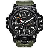 GOHUOS Herren Militärische Sportuhr, Analog Digital Sportuhr, Dual Time Display Casual 50m...
