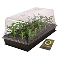 """Super Sprouter HGC726400 Heated Propagation Station, Contains Heat Mat, 10"""" x 20"""" Grow Tray, Vented Humidity Dome, 72 Cell Seedling Insert and Booklet, To Germinate Seed and Propagate Cuttings"""