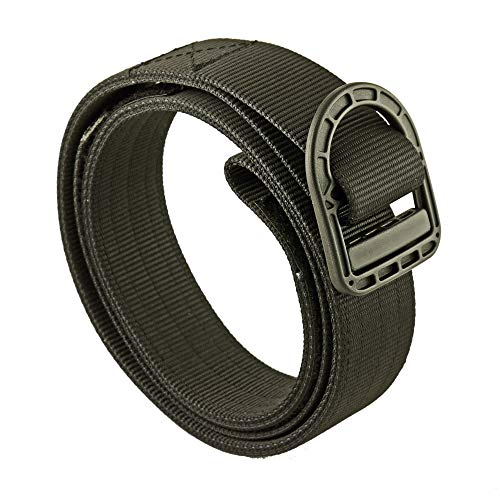CCW (Concealed Carry) - EDC Nylon Tactical Gun Belt, 1.5', for Police, Military, IPSC, USPSA, IDPA and Frequent Flyers (Black, Large)