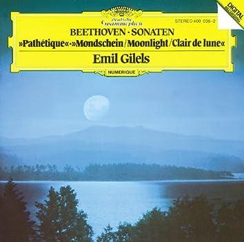 べートーヴェン:ピアノ・ソナタ第8番 《悲愴》、第13番、第14番 《月光》