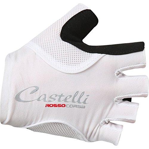 Castelli Guante Corto Mujer Rosso Corsa Pave Gel Color Blanco/Negro, Medium