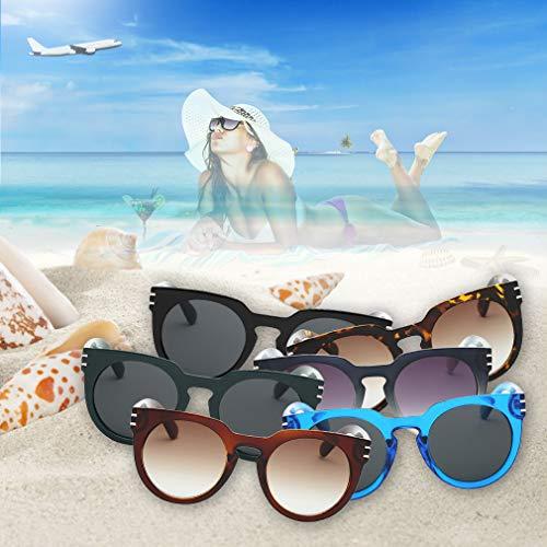 Hanone Gafas de Sol de Montura Cuadrada Frescas Vintage de Moda para Hombres y Mujeres para Azul al Aire Libre