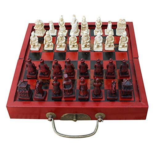 Zhice Faltende tragbare antike chinesische Chinesenbrettspiele Holztisch-Schachfiguren-Set