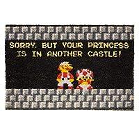 getDigital Your Princess is in Another Castle ファニーウェルカムドアマット ゲーマー、オタク、オタク用 - 23.62 x 15.75インチ、100%天然コココイルファイバー