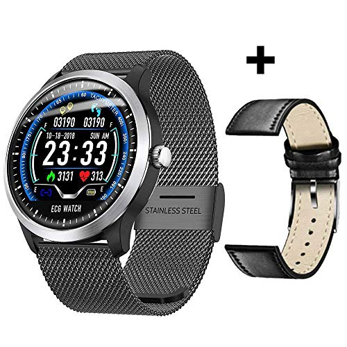 MOLINB Slim horloge ECG PPG Smart Watch Hartslag Bloeddrukmeter Elektrocardiograaf ECG-display Waterdicht N58 Smartwatch Heren Dames