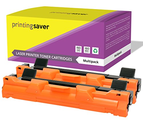 TN-1050 Printing Saver Pack de 2 XL tóners compatibles para Brother MFC-1810, MFC-1910W, HL-1110, HL-1112, HL-1210W, HL-1212W, DCP-1510, DCP-1512, DCP-1610W, DCP-1612W (2.000 Páginas)