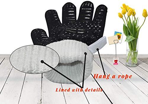 Senders Grillhandschuhe, Ofenhandschuhe Hitzebeständige bis zu 800 ° C Grill Handschuhe Universalgröße Kochhandschuhe Backhandschuhe rutschfeste mit Silikon für BBQ/Kochen/Backen/Schweißen - 7