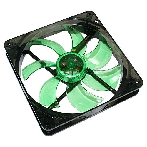 Cooltek Silent Fan 140PC-Ventilator (Ventilator, Computertasche, 14cm, Schwarz, Grün, LED, grün)