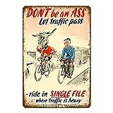 Cartel de chapa de Metal Vintage, uso de carrera de bicicletas para Bar, cafetería, decoración de pared para el hogar, cartel, placa de Metal 20x30cm 03