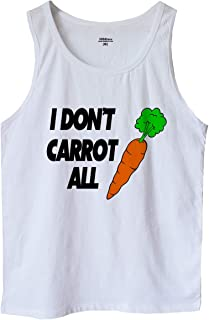 I Don't Carrot All Men's Tank Top Shirt Funny Slogan Quote Tee