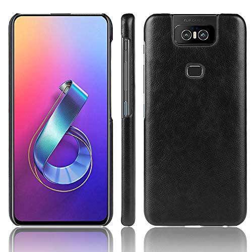 HUILIAN Casse del Telefono Mobile & Cover, Custodia Antiurto Litchi Texture PC + PU for ASUS Zenfone 6 / 6Z ZS630KL (Colore : Nero)