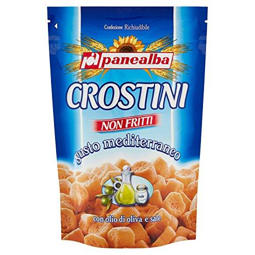 Panealba Crostini non Fritti Gusto Mediterraneo con Olio di Oliva e Sale, 100g