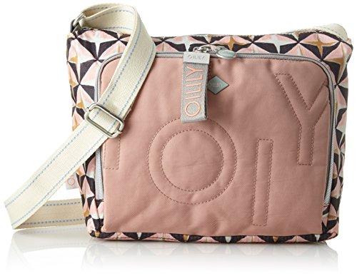 Oilily Damen Charm Geometrical Shoulderbag Mhz Schultertasche, Pink (Rose), 13x23x27 cm