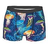 Jellyfish Ocean Blue Medusa Sea - Calzoncillos tipo bóxer para hombre con impresión completa, transpirable, elástico, para hombre