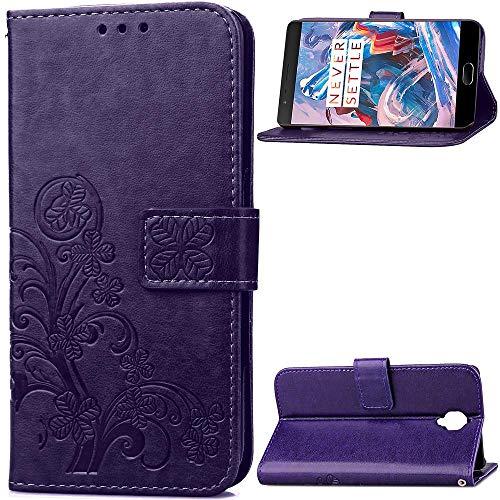 1fortunate cajas del teléfono Para OnePlus 3T, elegante elegante de lujo elegante de la caja de la caja de la caja de la caja de la caja del bolso de la cubierta de la cubierta de cuero + TPU Stand Wa