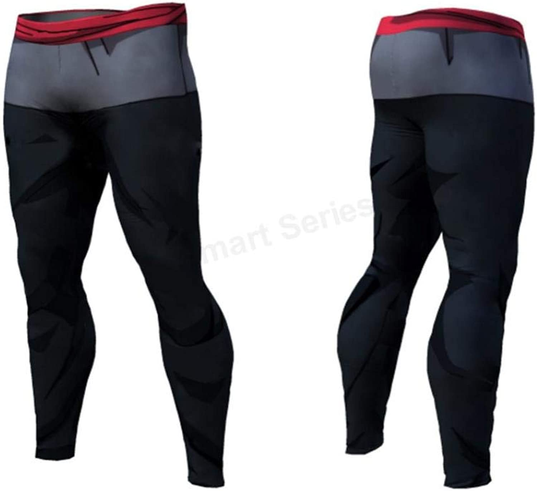 MYNOV Dragon Ball Pants Quick Dry Tight 3D Dragon Ball Z Anime Men Vegeta Goku Pant