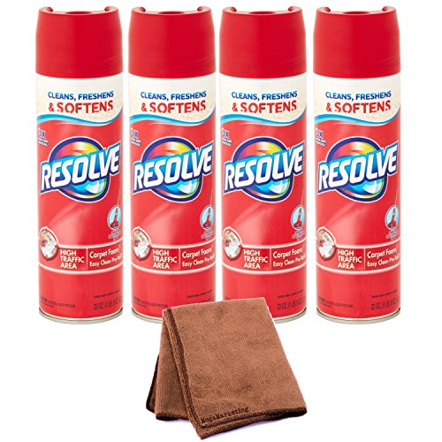 High Trafic Carpet Foam 22 oz Can - Remove Stain, 4p - Cleaning Cloth