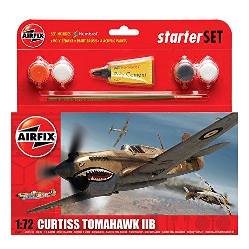 Airfix A55101 1/72 Small Starter Set, Curtiss Tomahawk IIB Modellbausatz