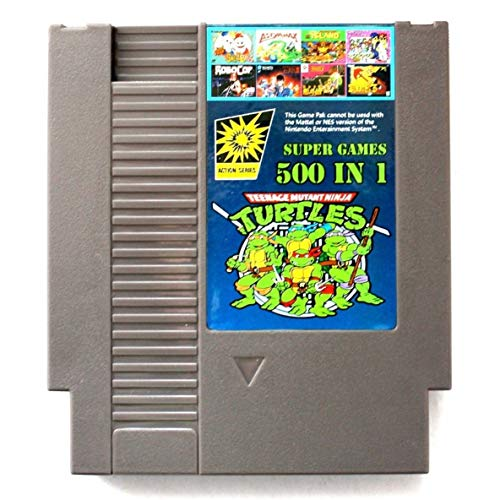 Romerofsia 500 en 1 para el de serie de juegos de NES Classic Super Game Cartucho Contra TMNT Bubble Bobble 2 accesorios del juego de...