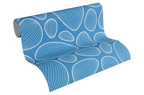 Lars Contzen Vliestapete Artist Edition No. 1 Tapete Vilde Strand Designertapete 10,05 m x 0,53 m blau beige Made in Germany 341225 34122-5