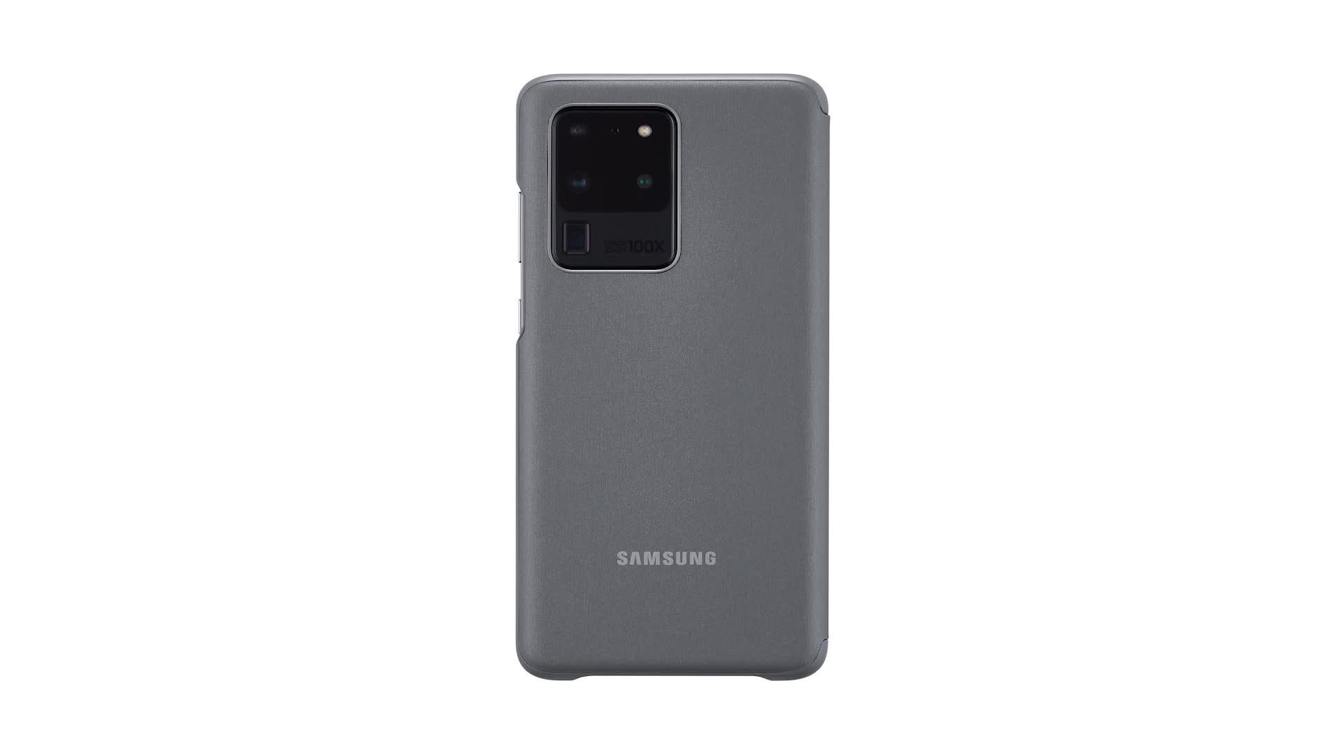 Samsung Clear View Cover Ef Zg988 For Galaxy S20 Ultra Grey Elektronik