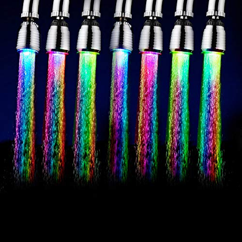Tidyard LED Wasserhahn Licht Wasserstrom Beweglicher Wasserhahn Automatisch Mehrere Farben Wechselnder Wasserhahn Wasserhahn für Küche Badezimmer
