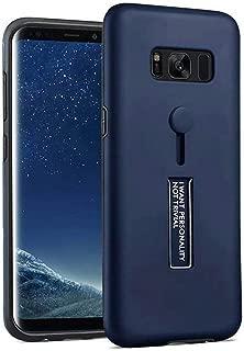Galaxy S8 Case,Finger Loop Strap Hide Stand Holder Kickstand Case for Samsung Galaxy S8 (Blue)