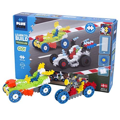 Plus-Plus 9607011 Kreativ-Bausteine, Fahrzeuge Set, PlusPlus Go, Geniales Konstruktionsspielzeug, 500 Teile
