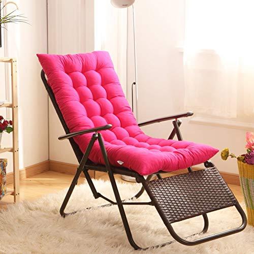 Indoor Outdoor ligstoel met lussen, gevoerd, schommelstoel, zitdemping, tuinmeubelen, matras voor zonnebad, voor tuin, roze, 125 x 48 cm