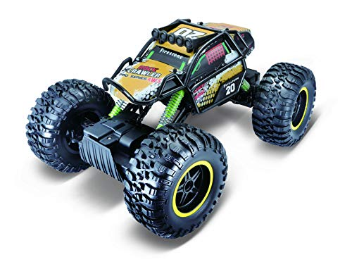 Maisto Tech R/C Rock Crawler Pro Series: Ferngesteuertes Auto in Monstertruck-Ausführung, mit Allradantrieb und Pistolengriff-Fernsteuerung, 38 cm, schwarz (581334)