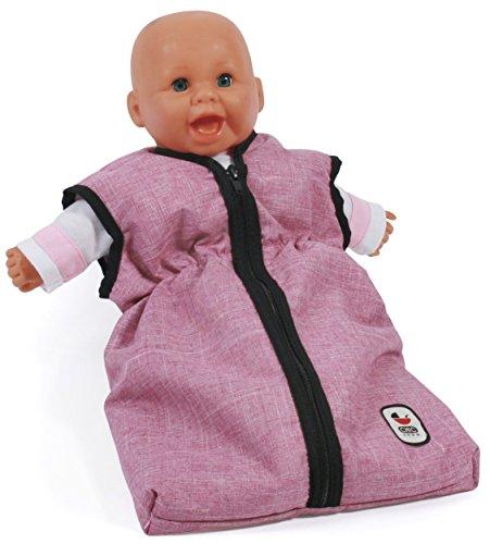 Bayer Chic 2000 792 70 Puppen-Schlafsack für Babypuppen, Jeans Rosa