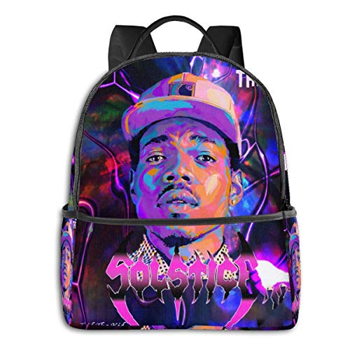 Chance The Rapper University School Large Capacity Backpack Computer Bag Unisex Suitable Hiking Variety Outdoor Sports