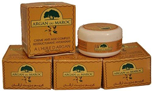 ACEITE DE ARGAN CREMA MARROCCAN NATURAL ANTI EDAD ANTIOXIDANTE VITAMINA E REPLENISHING (5 macetas (500g))