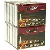 unilite® von na-und® Streichhölzer 380 Holz Zündhölzer 10 Schachteln