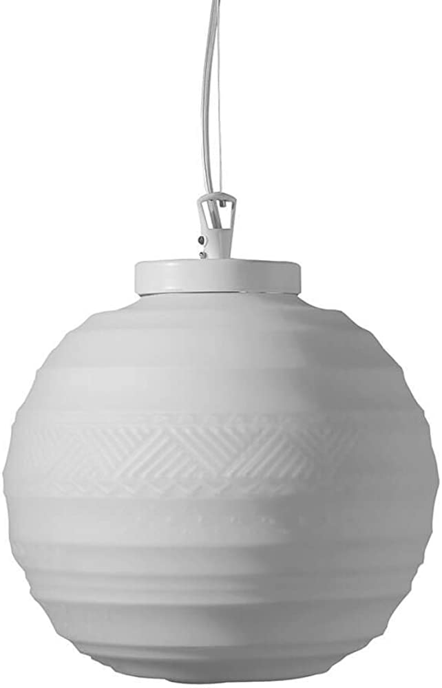 Karman braille, lampada a sospensione Ø25 cm,in vetro satinato bianco SE1441B INT