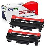Kingway Brother TN-2420 - Tóner de repuesto para impresoras Brother MFC-L2710DW, HL-L2350DW, DCP-L2530DW, HL-L2370DN, DCP-L2510D, HL-L2375DW, HL-L2310D, MFC-L2730DW, L2550DN, 2 negros)